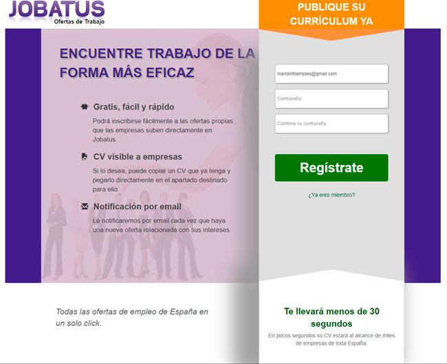 Cómo registrarse en Jobatus para encontrar un trabajo