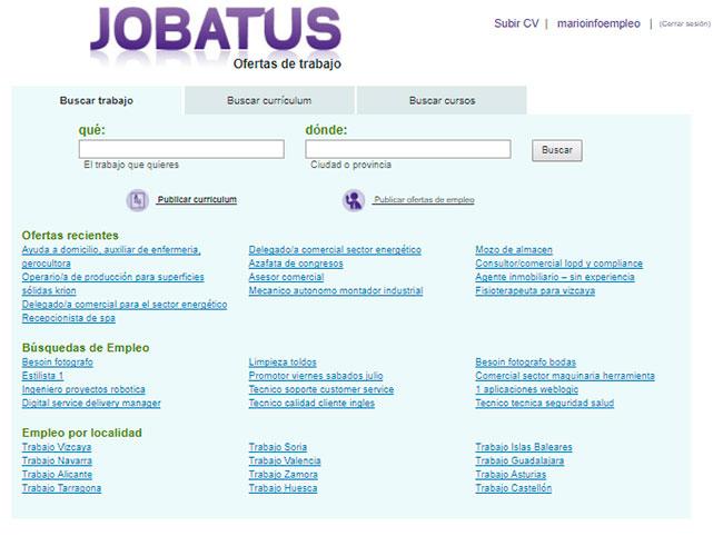 Cómo buscar trabajo en Jobatus